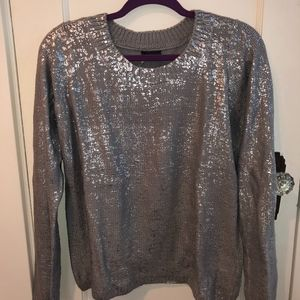 Silver/Gray Sparkle & Fade Sweater